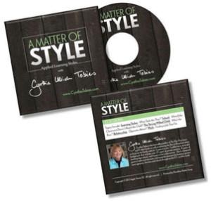 Cynthia Tobias DVD- A Matter of Style